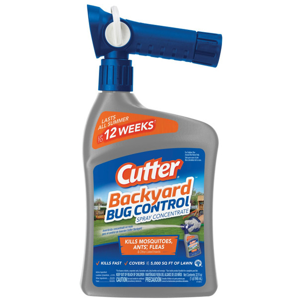 Cutter Backyard Bug Control Spray Concentrate, 5M Sq Ft Coverage