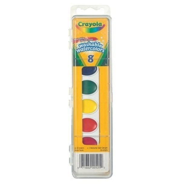 Crayola Washable Watercolors, 8 Colors, (4 Pack)