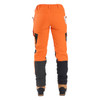 Clogger Hi-Vis Orange Zero Women's Chainsaw Pant - Back