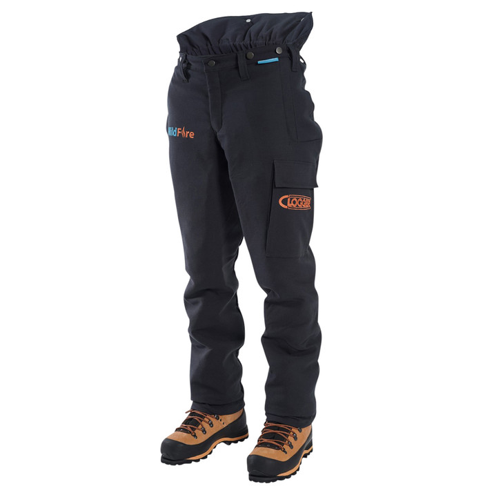 Wildfire Wildland firefighting FR Chainsaw Pants Front Side View