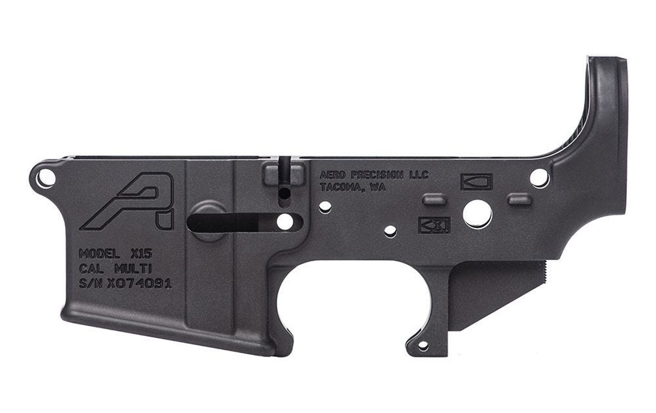 Aero Precision X15  Stripped Lower Receiver, Gen 2  Black