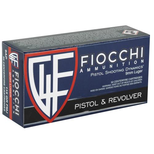 Fiocchi 9mm 115gr FMJ