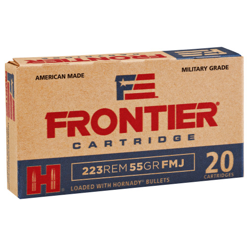Frontier Cartridge 223 Rem 55gr FMJ 20 Round Box