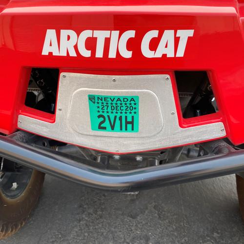 Wildcat XX OHV/Registration Plate