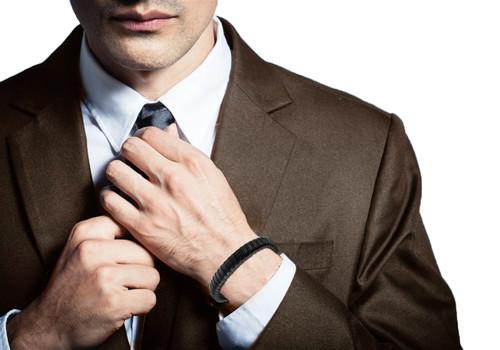 "Halukakah® ""JAZZ"" Men's Genuine Leather Bracelet Titanium Clasp with Magnets 8.46""(21.5cm) with FREE Giftbox"