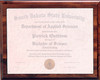 Cherry Routed Certificate Plaque