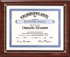 Cherry Slide-In Certificate Plaque-Top Mounted