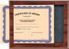 Cherry Slide-In Certificate Plaque