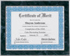 Black Marble Slide-In Certificate Plaque
