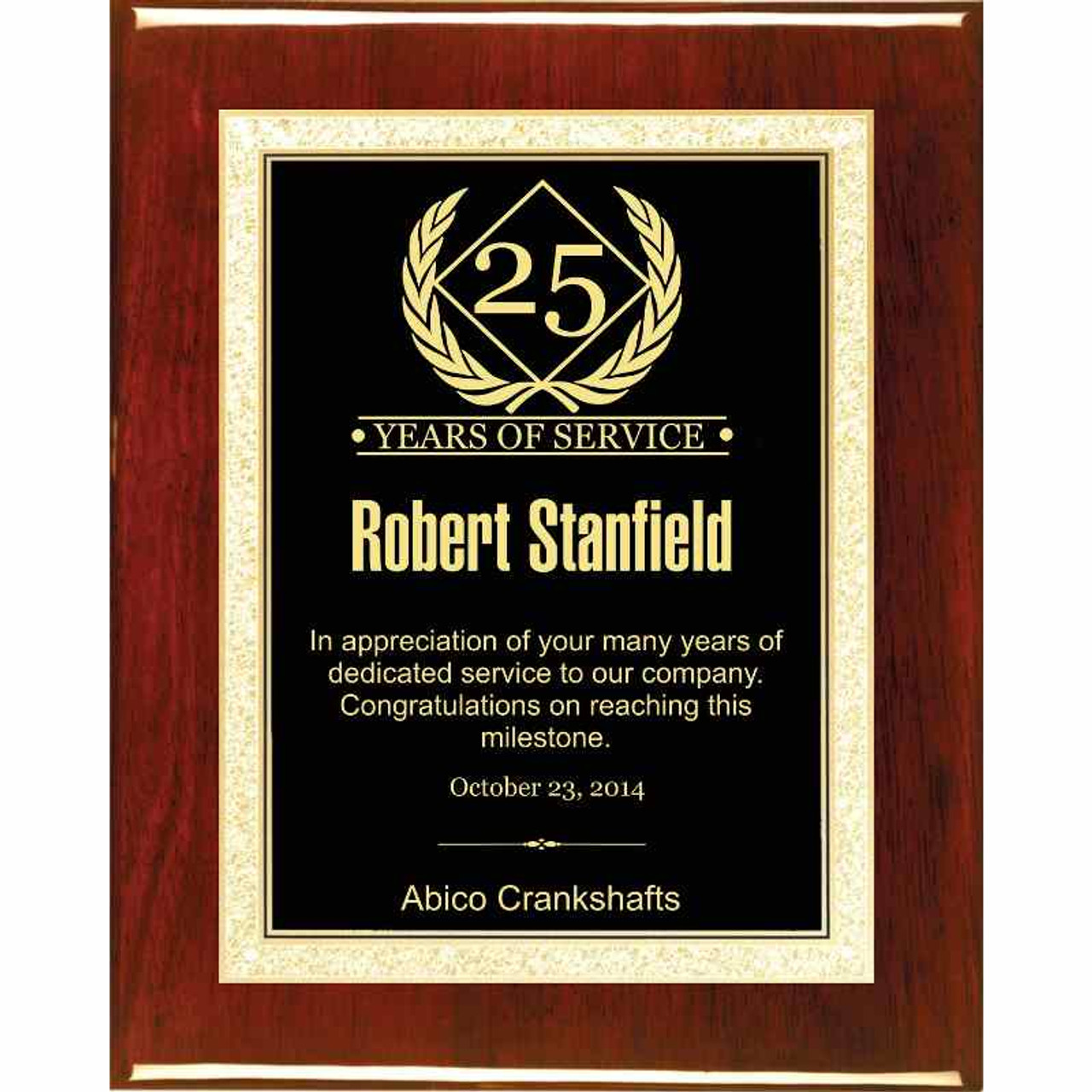 Years of Service Plaque
