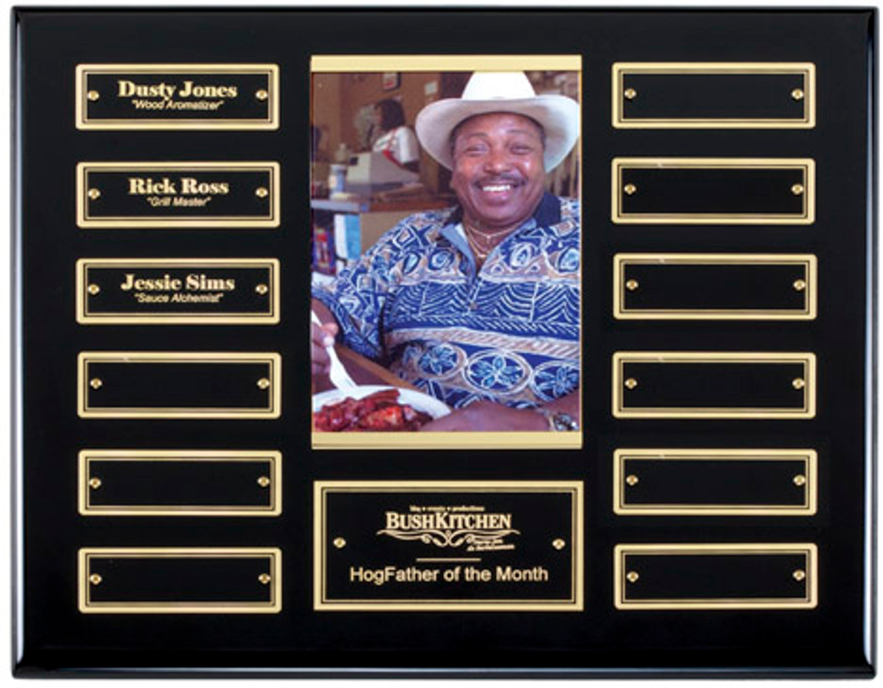 12 Plate Ebony and Gold perpetual plaque