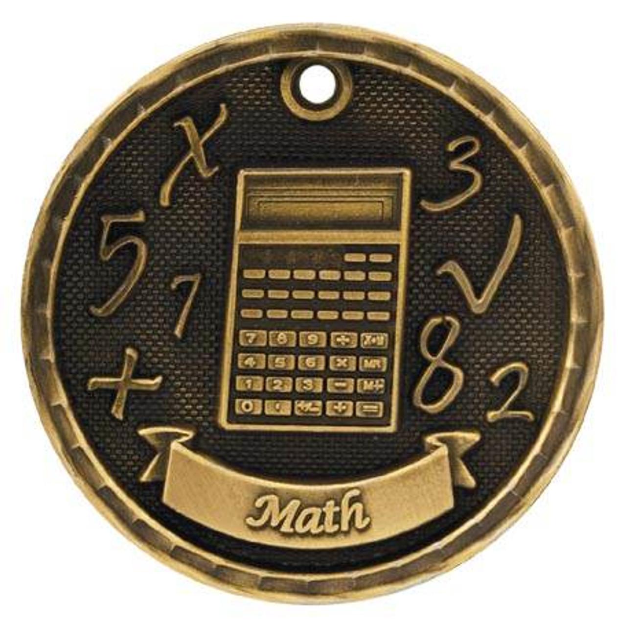 3d Math Medal