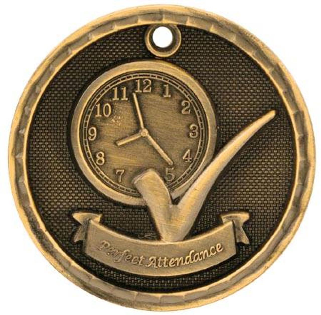 3D Perfect Attendance Medal