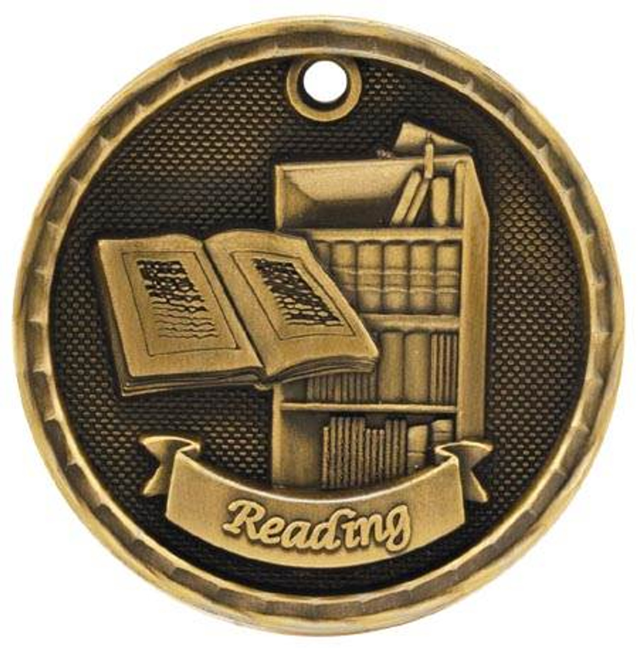 3D Reading Medal