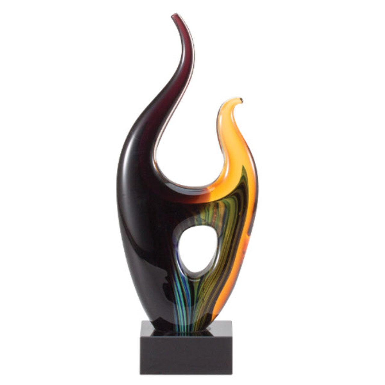 Rainbow Art Glass Sculpture