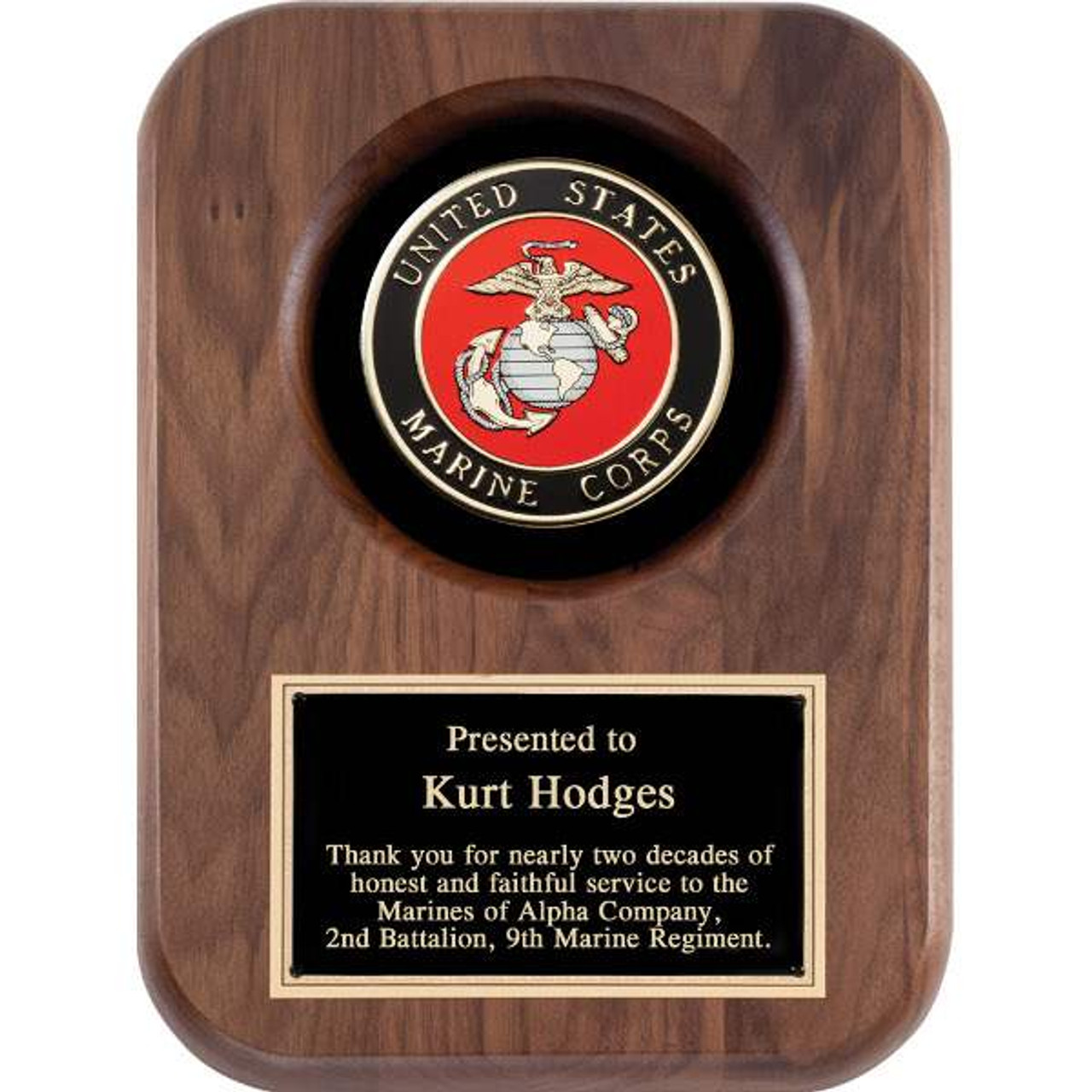 United States Marine Corps Plaque