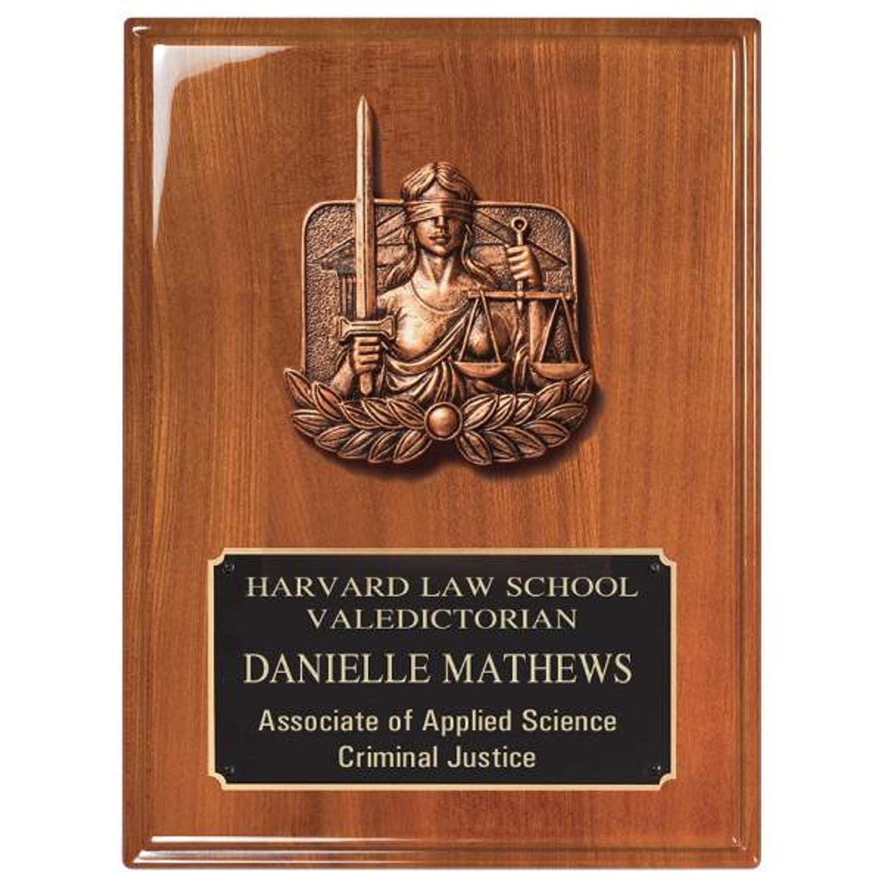 Legal Plaque, Justice Plaque