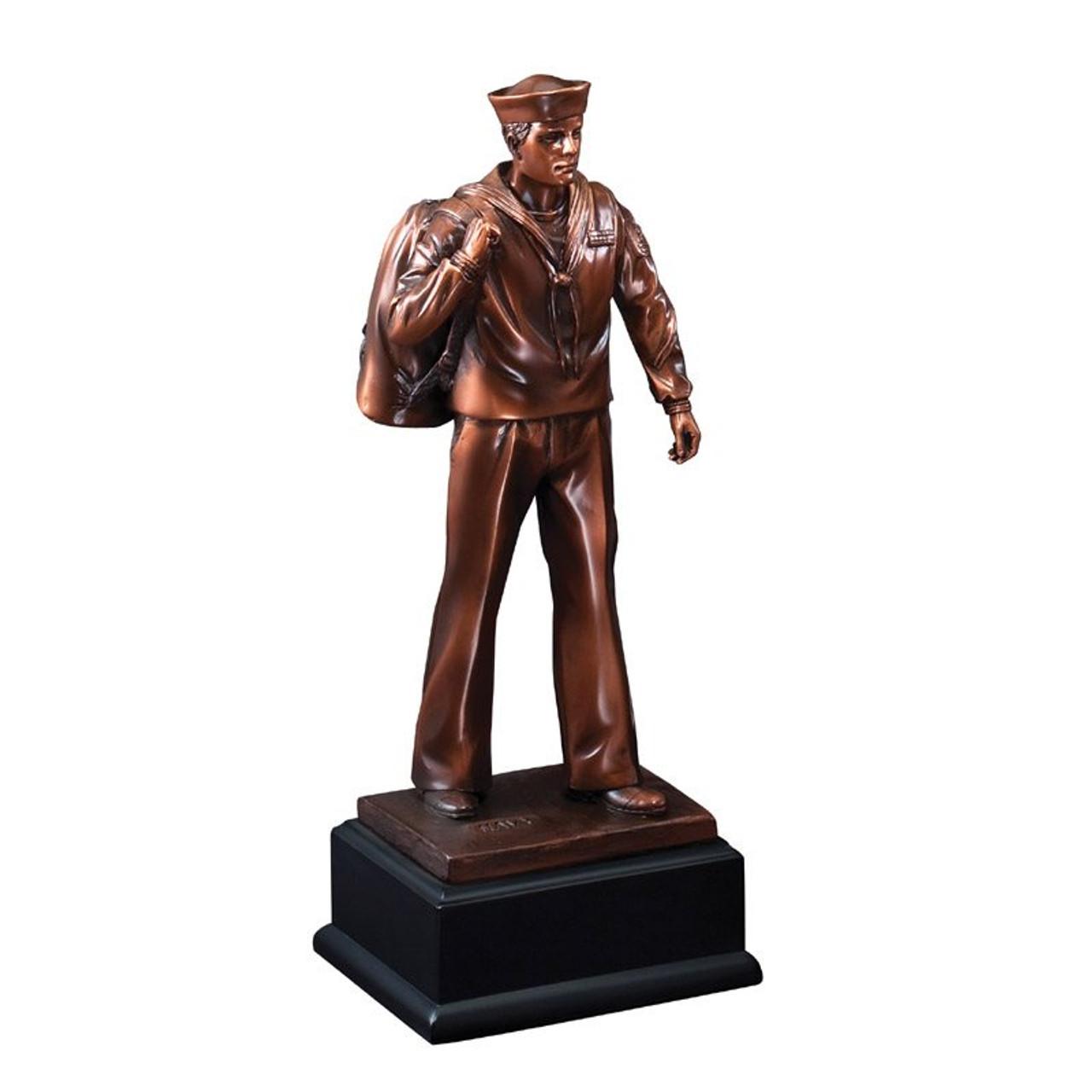Bronze Navy Figure