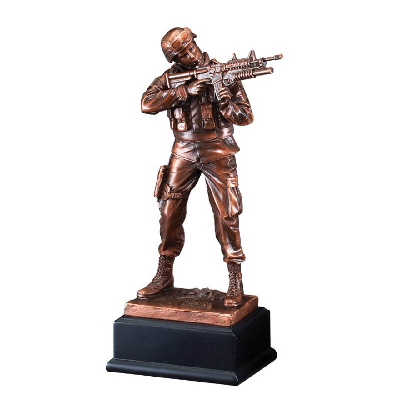 Bronze Army Figure