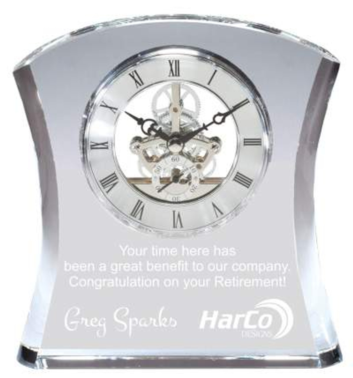 Crystal Retirement Clock