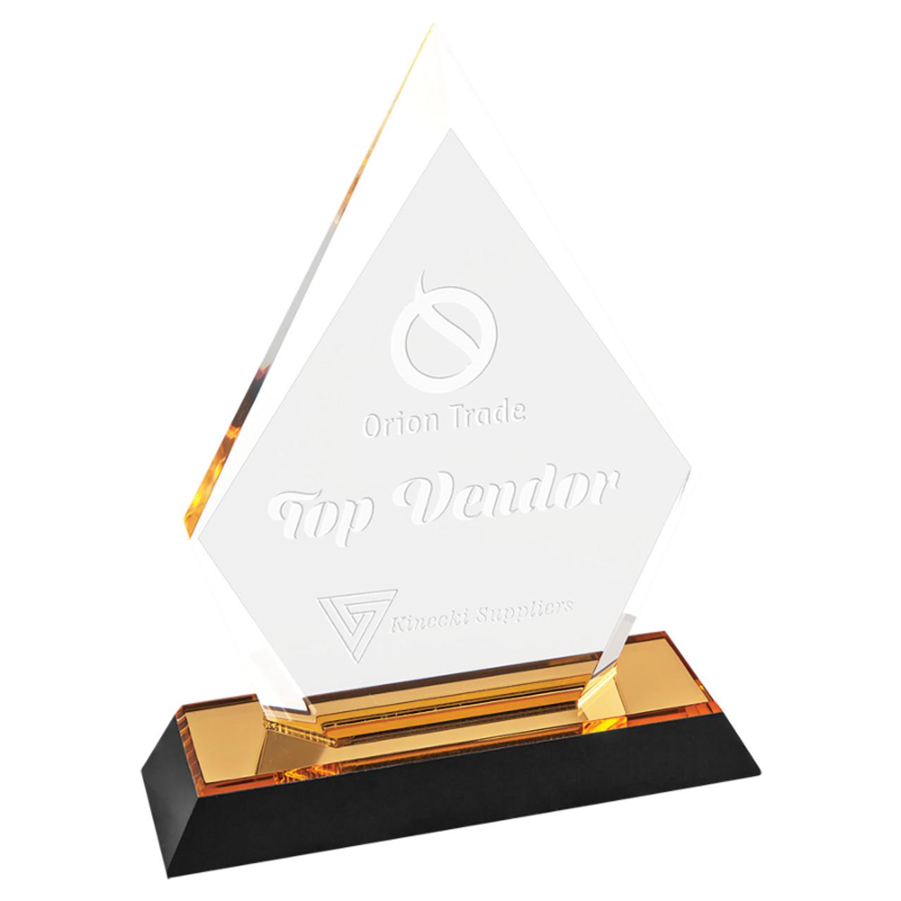 Gold Arrow Point Acrylic
