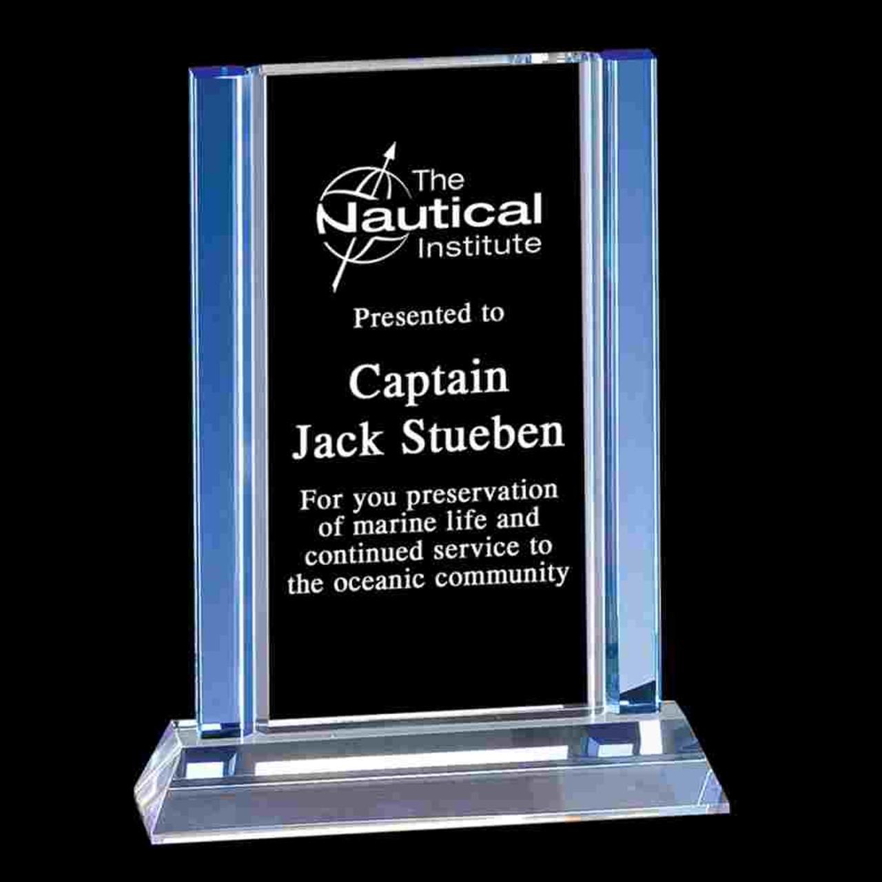 Cool Blue Series Rectangle Award