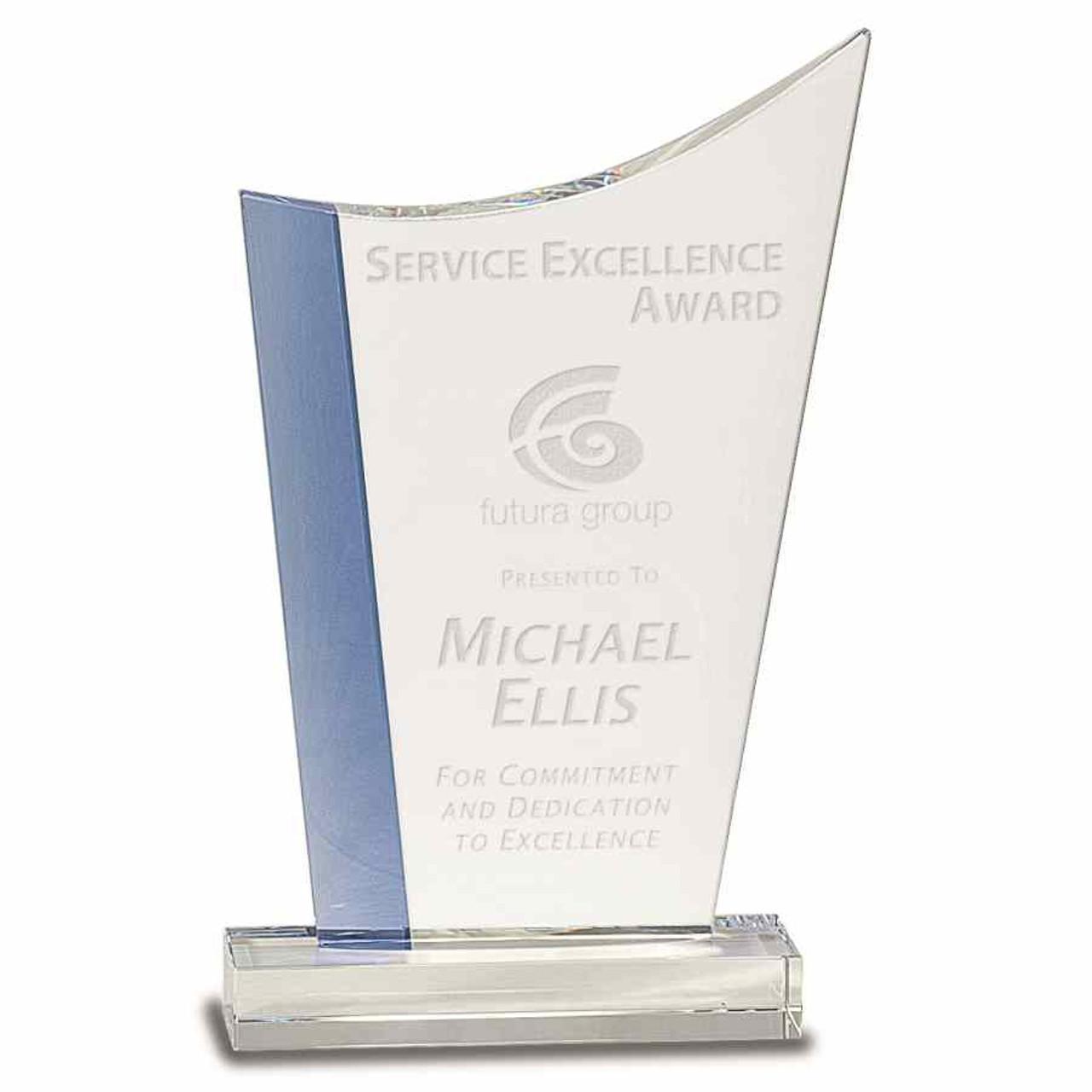 Cool Blue Series Blue Edge Crest Award