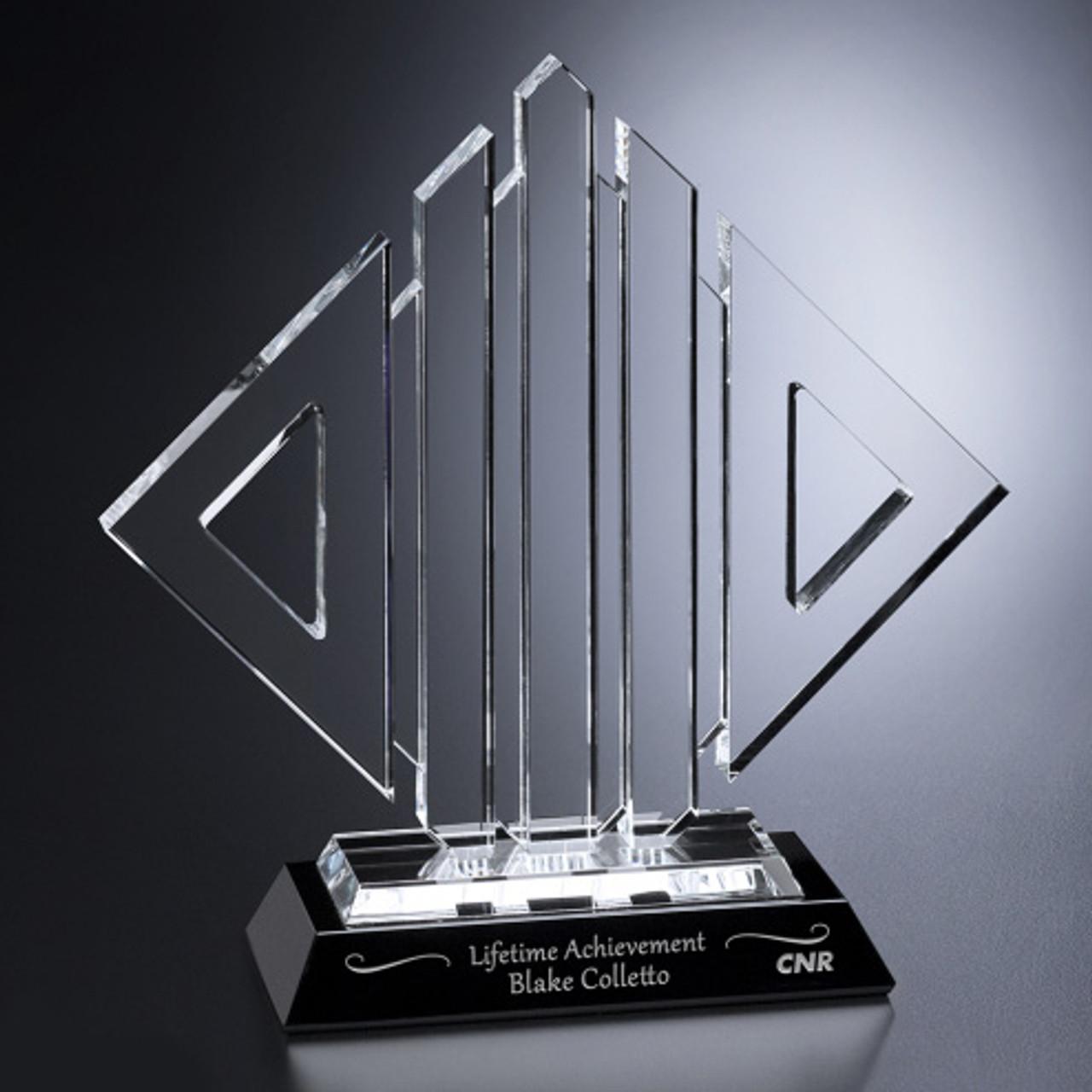 Black Optical Crystal Award