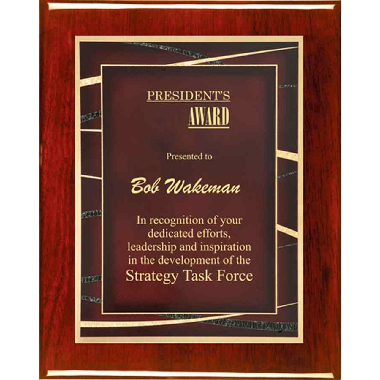 Rosewood Expression Plaque