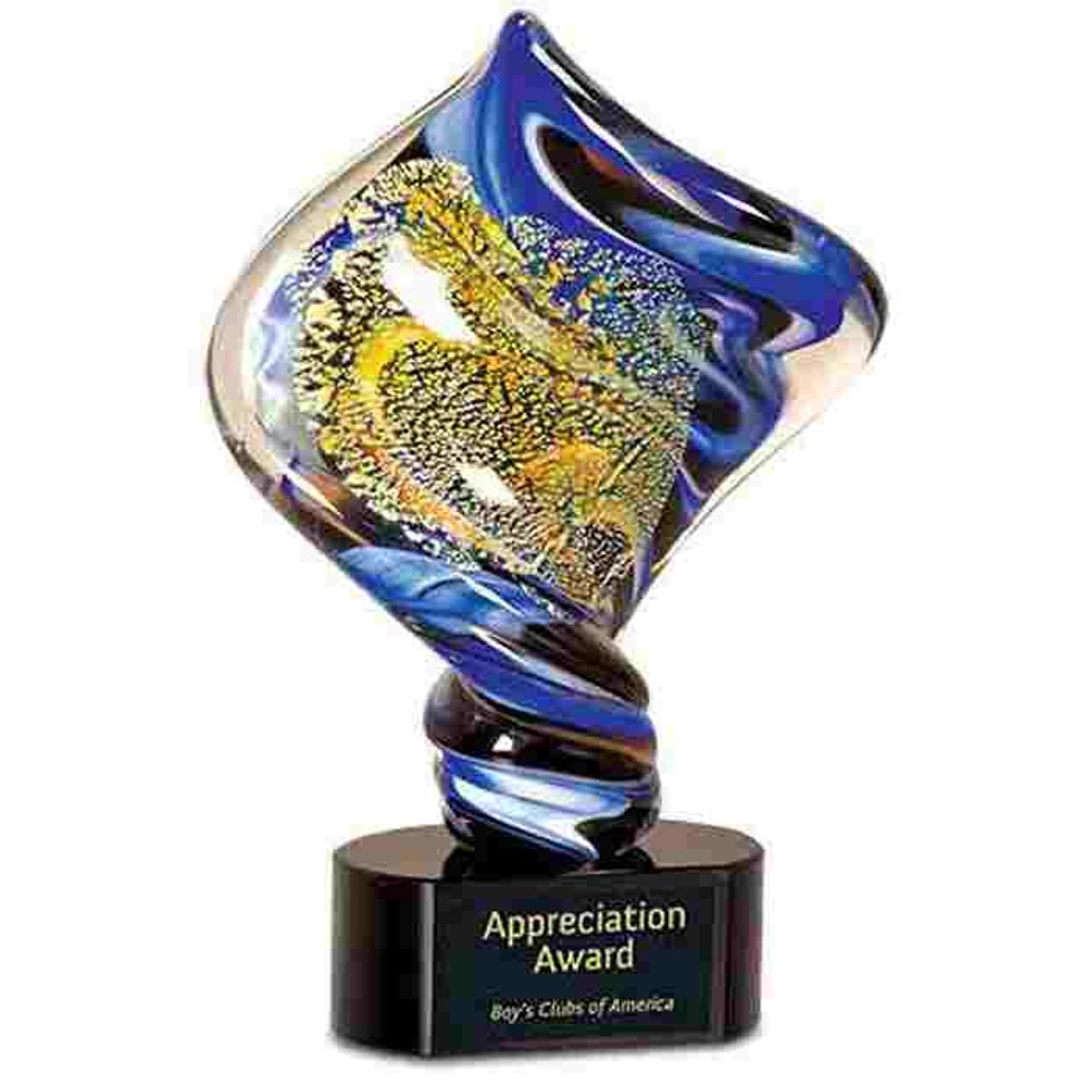 Blue Gold Art Glass