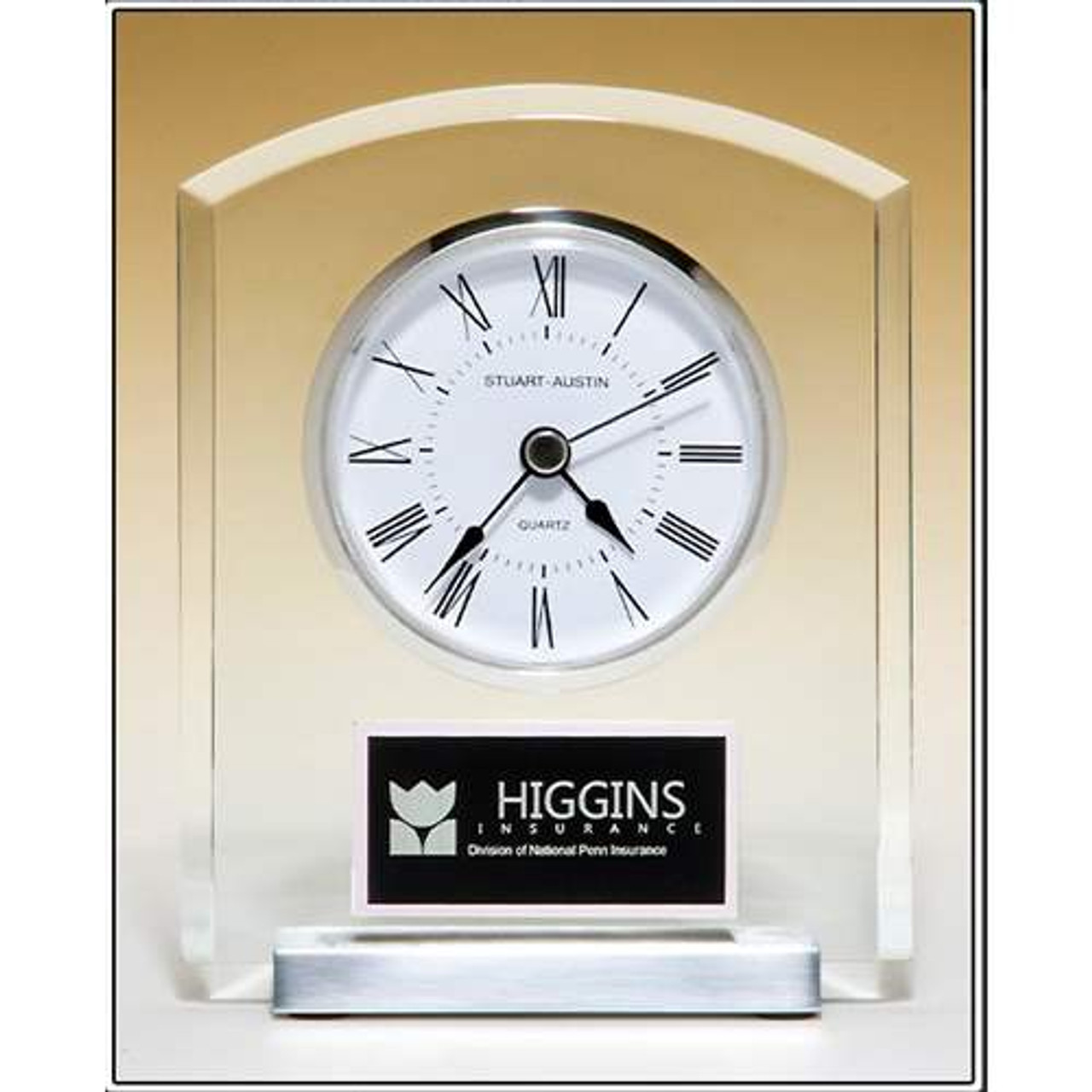 Desk Clock with Beveled Upright