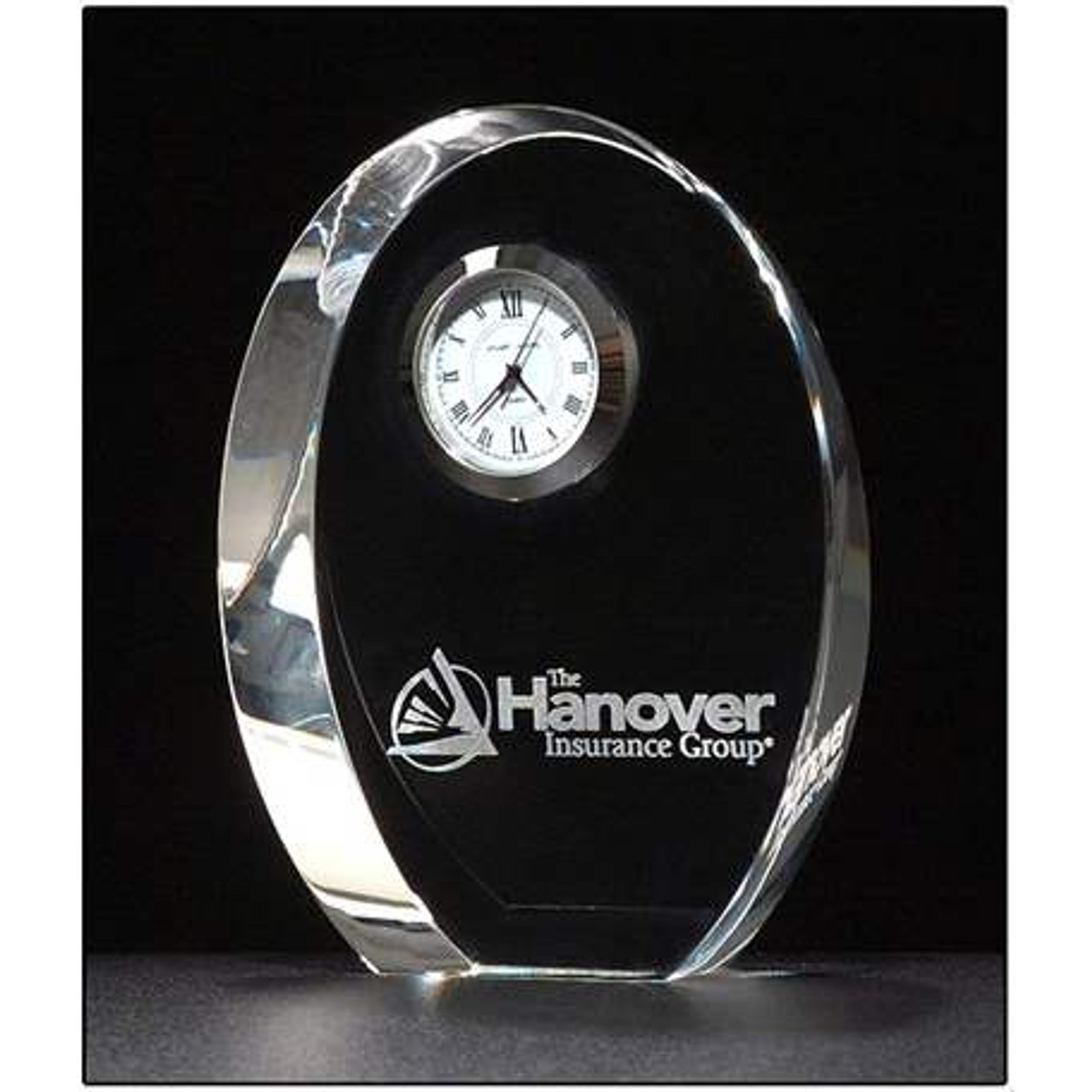 Oval Crystal Clock