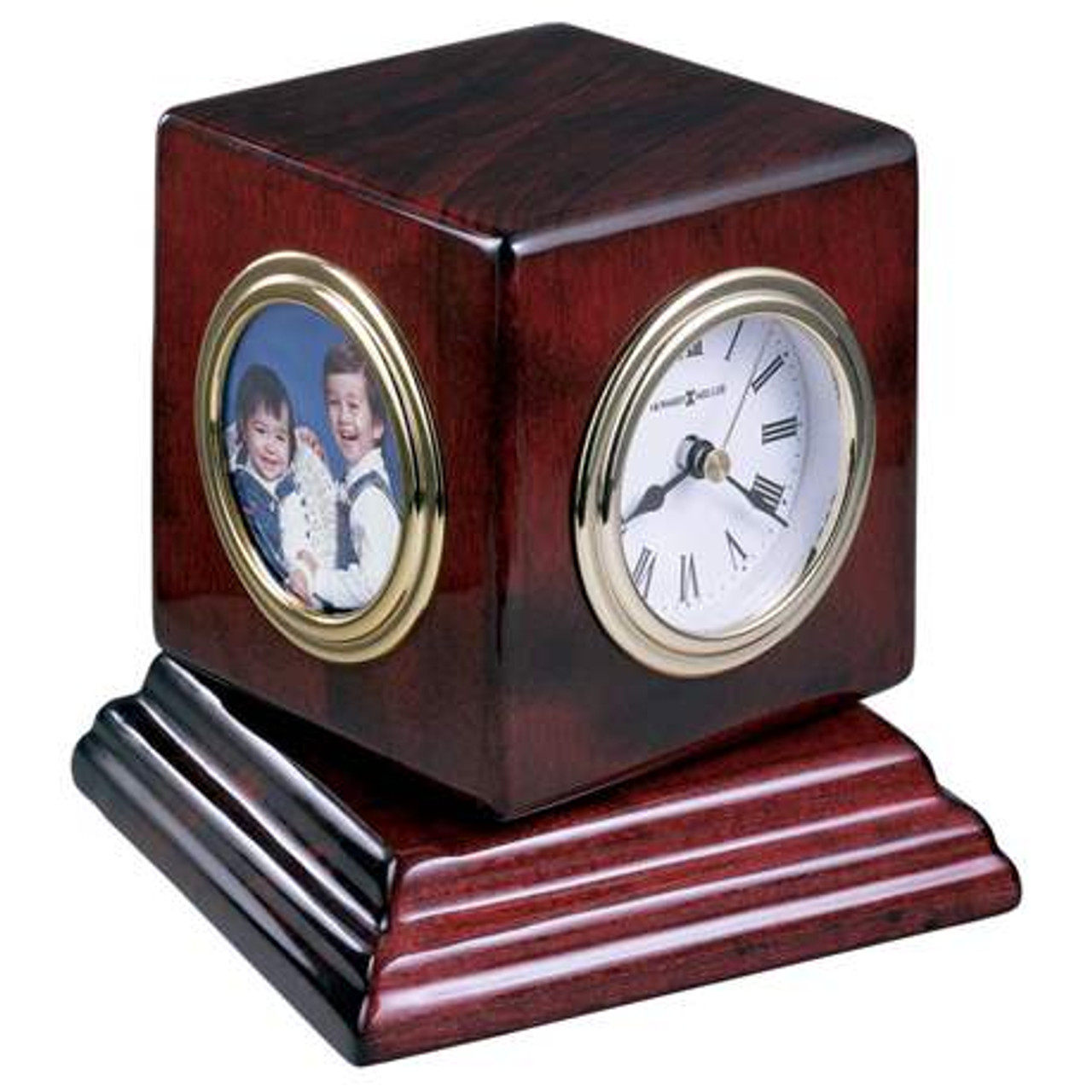Award Clock with hygrometer, thermometer, and photo frame
