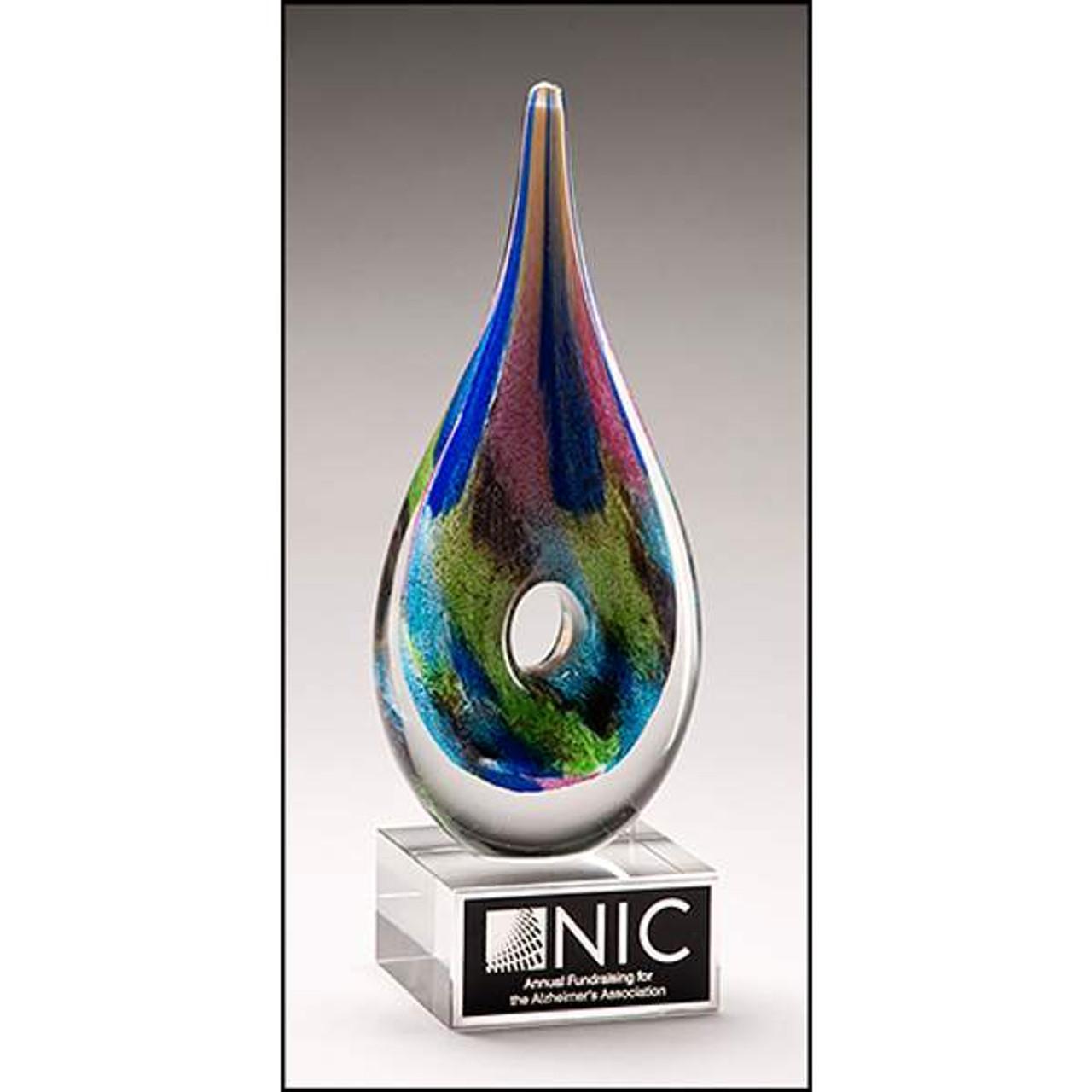 Multi Color Art Glass Award