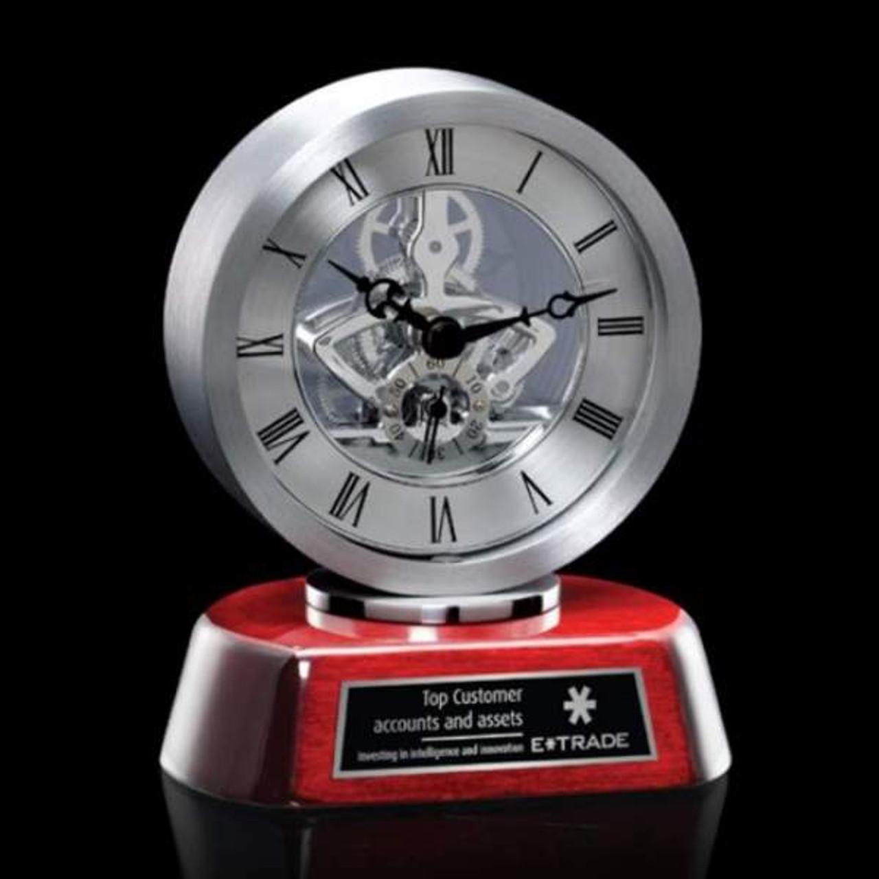 Conchita Clock-Silver