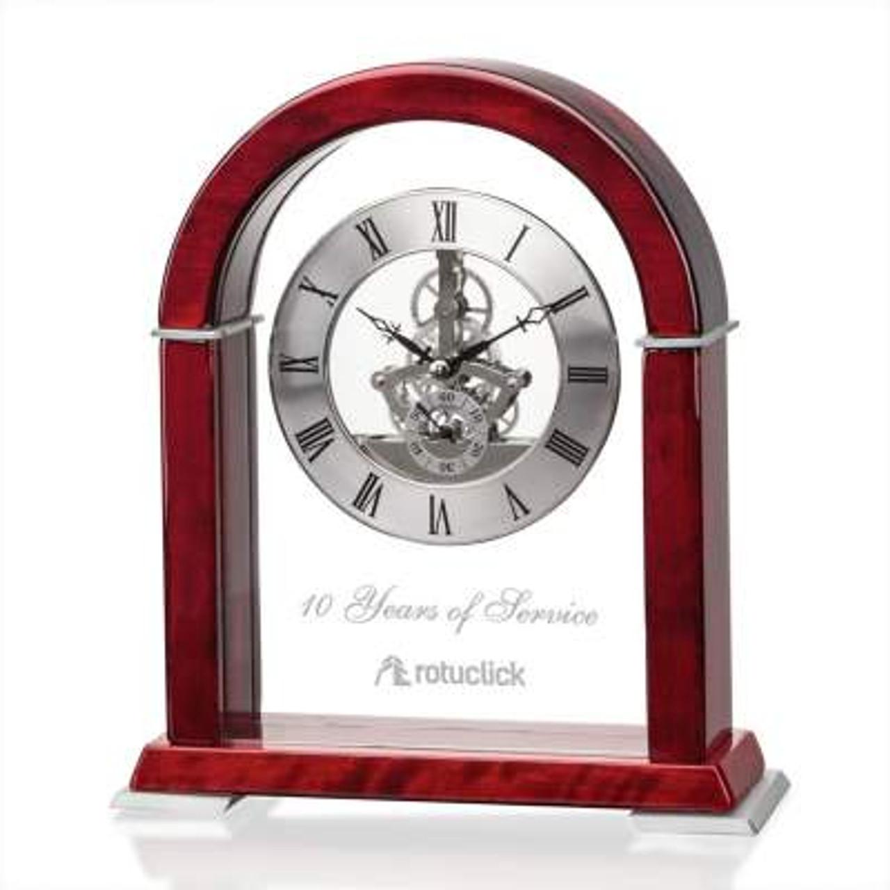 Years of Service Mantel Clock