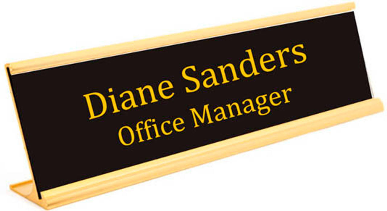 "2"" x 10"" Desk Name Plate"