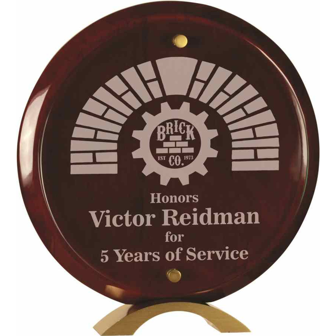 Round Floating Glass Plaque