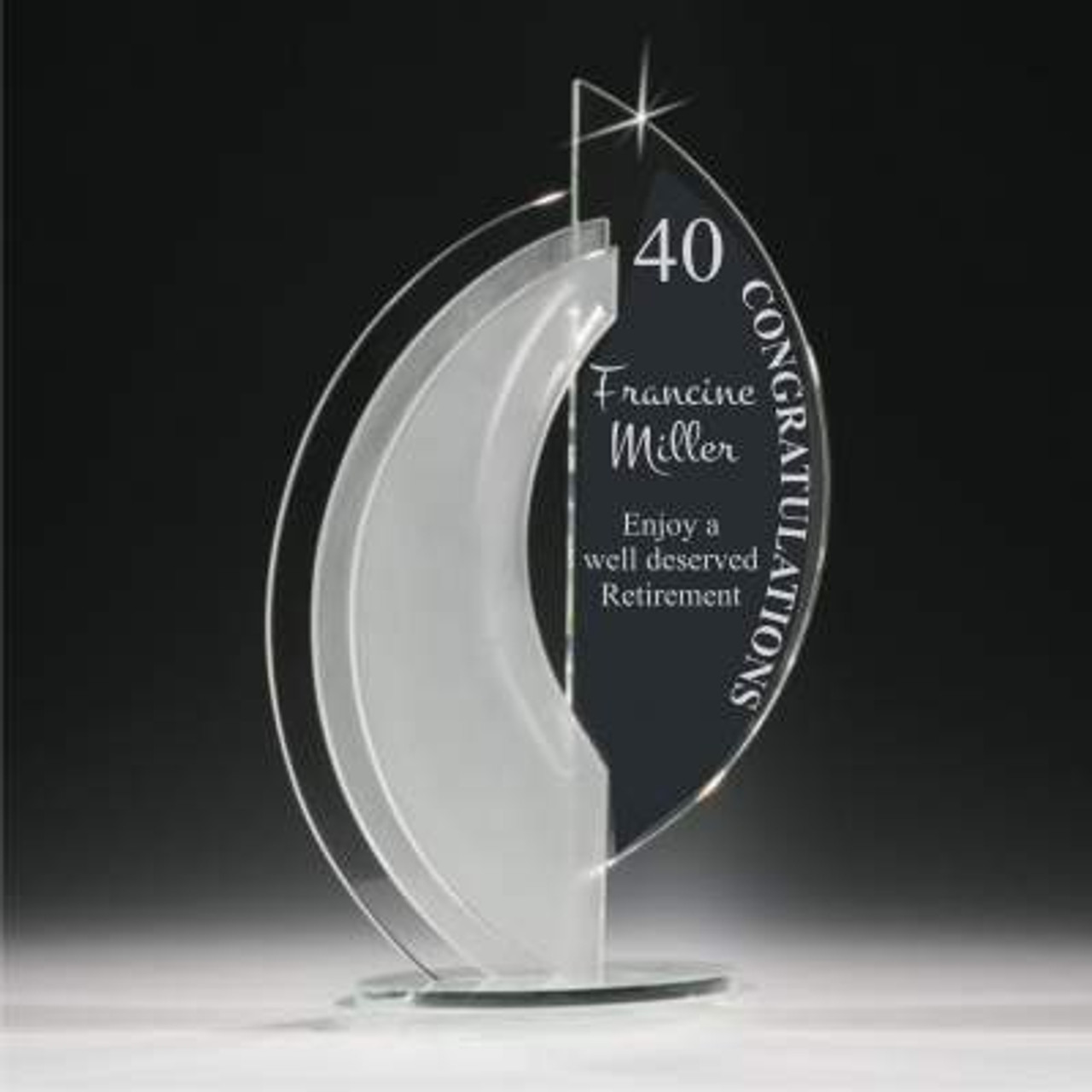 Crystal Arched Nautilus
