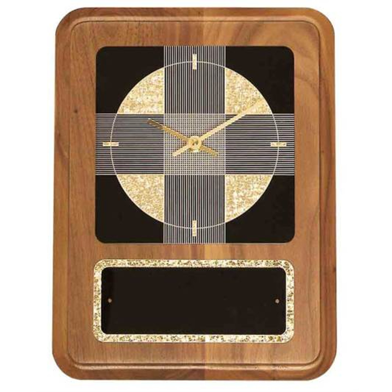 Black Gold Crackle Clock