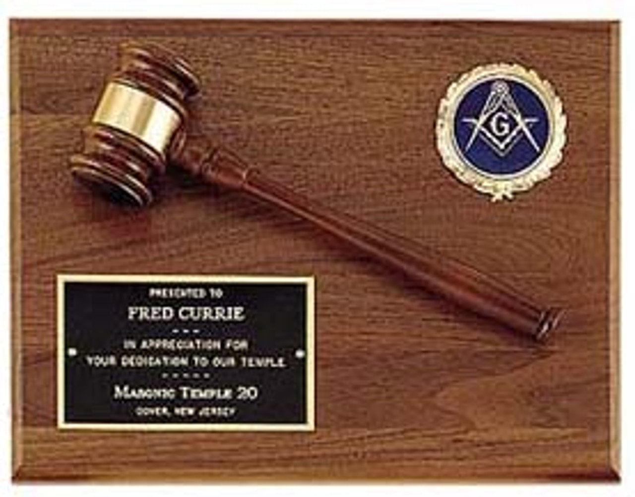 Gavel Plaque w/Color Insert