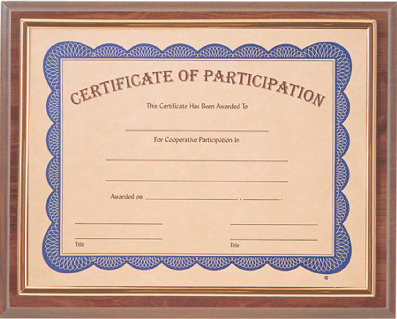 Cherry Slide-In Framed Certificate Plaque