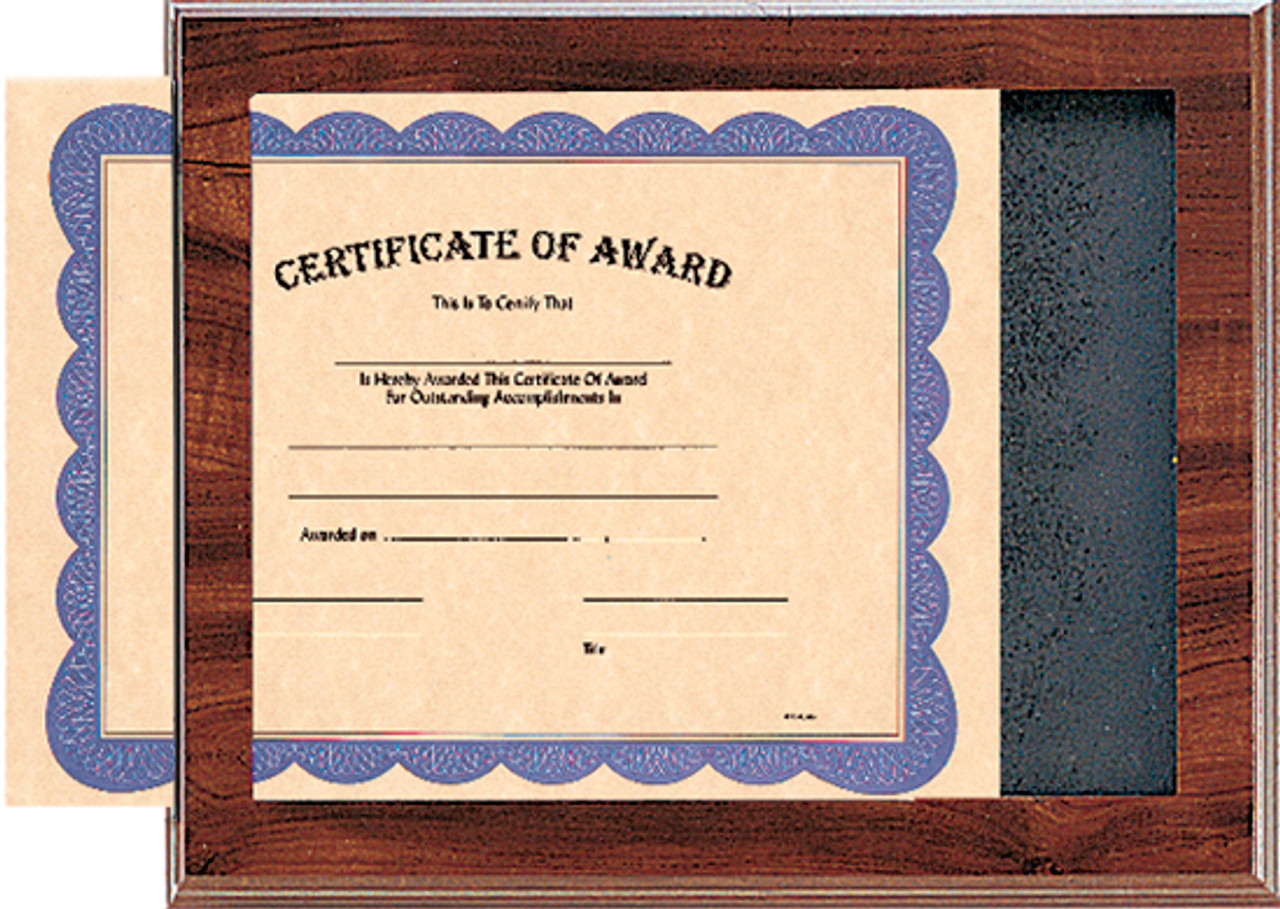 Cherry Slide-In Certificate Plaque
