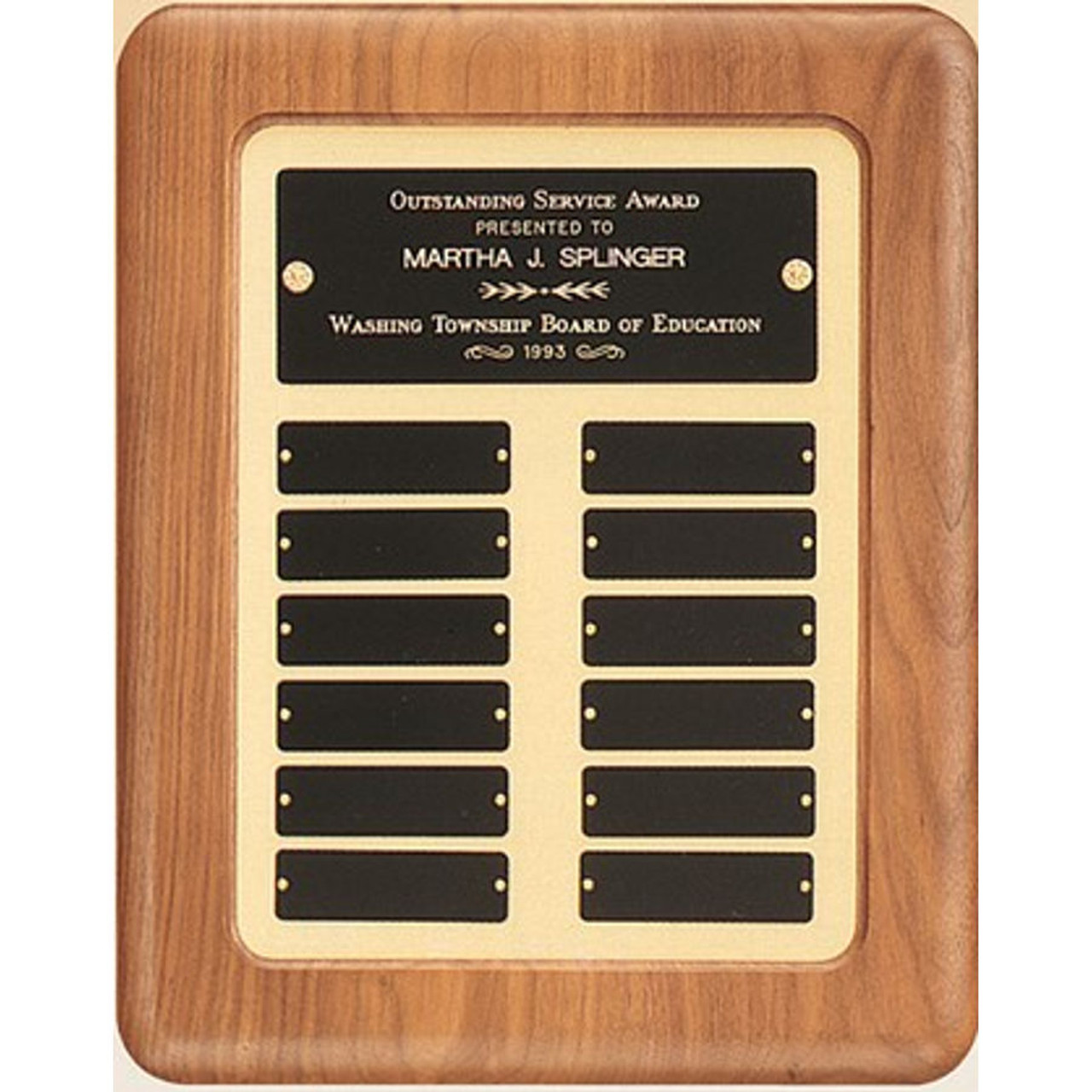 Brushed Gold Perpetual Plaque