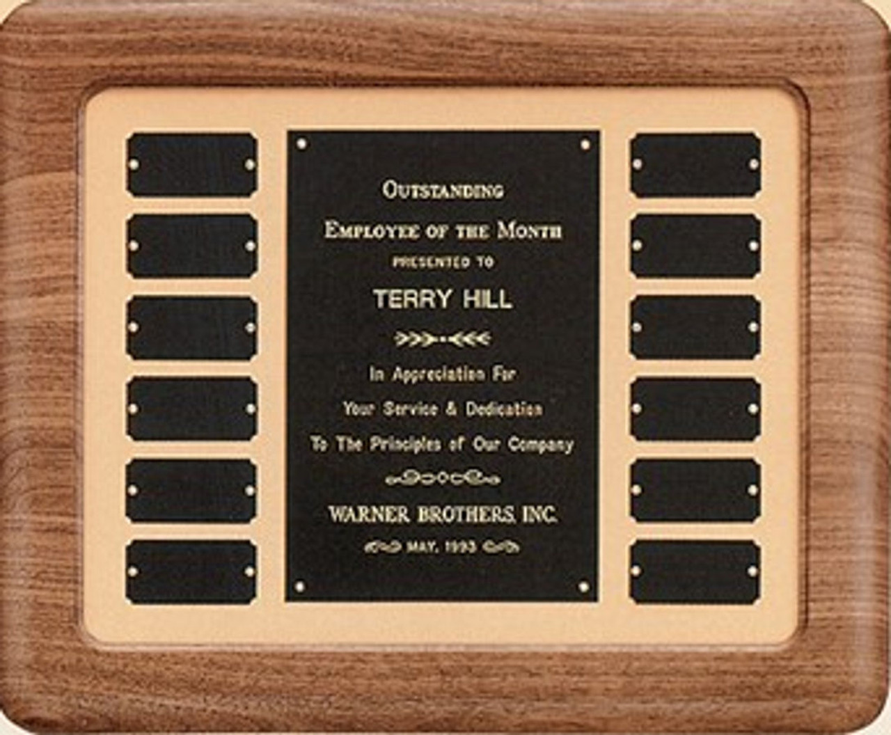 """14"""" Brushed Gold Perpetual Plaque"""