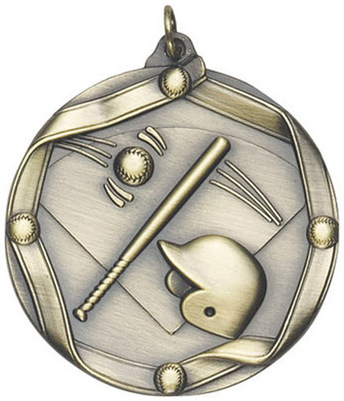 Ribbon Baseball Medal