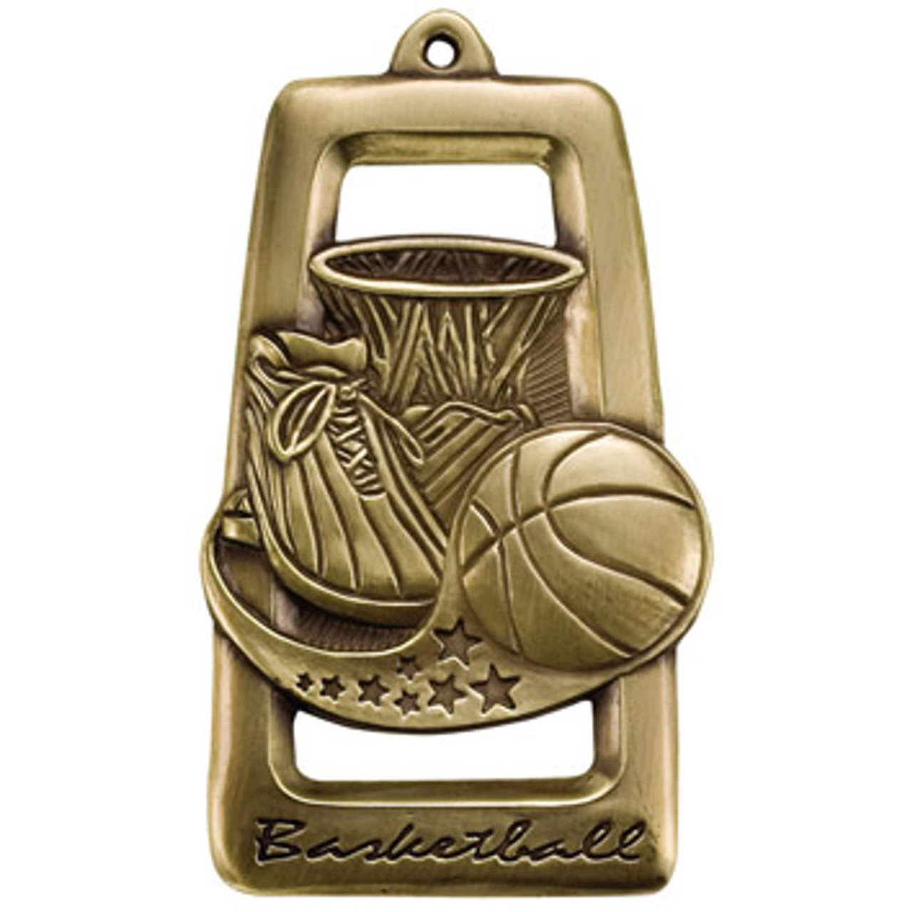 Tall Star Blast Basketball Medal