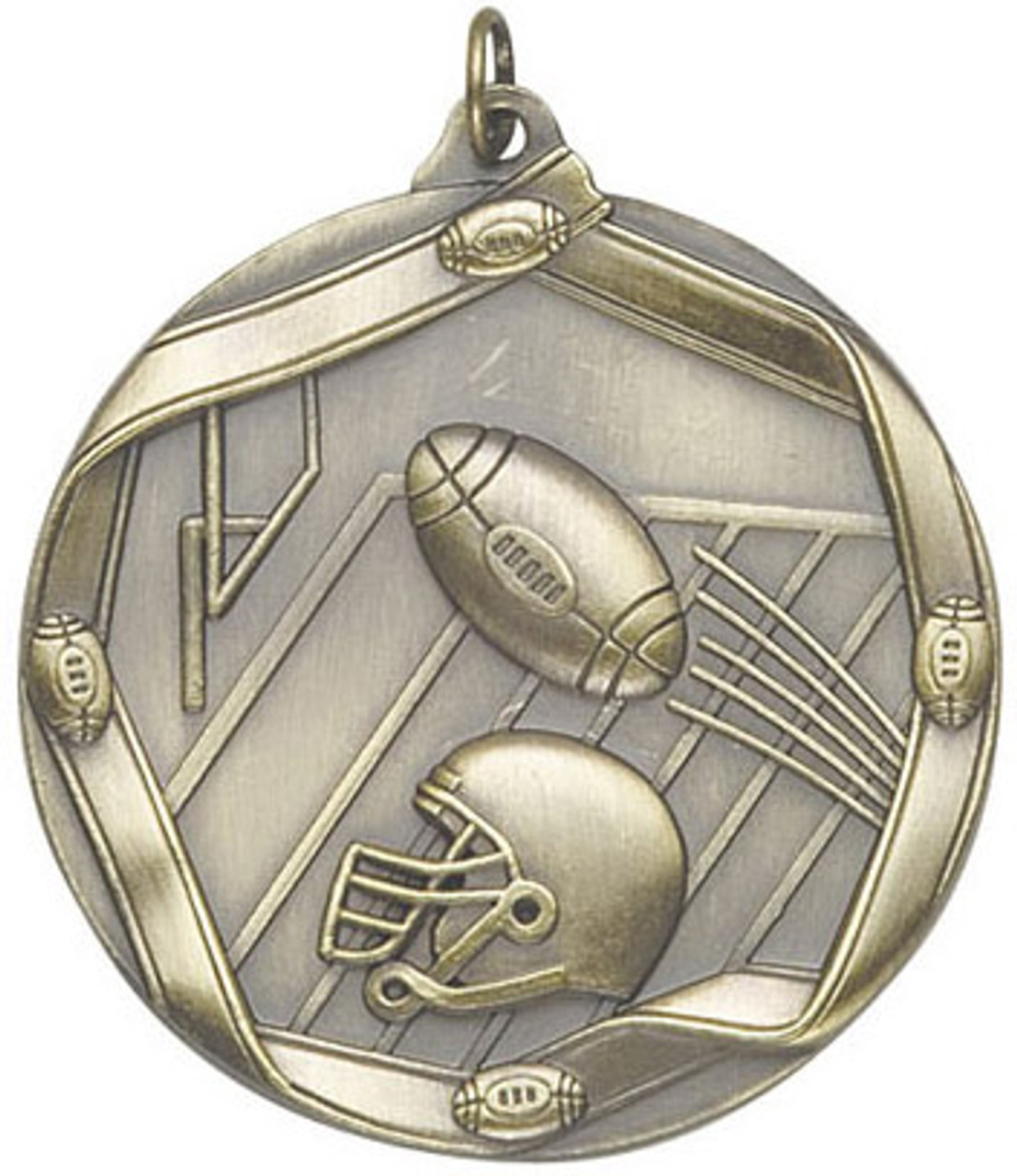 Ribbon Football Medal