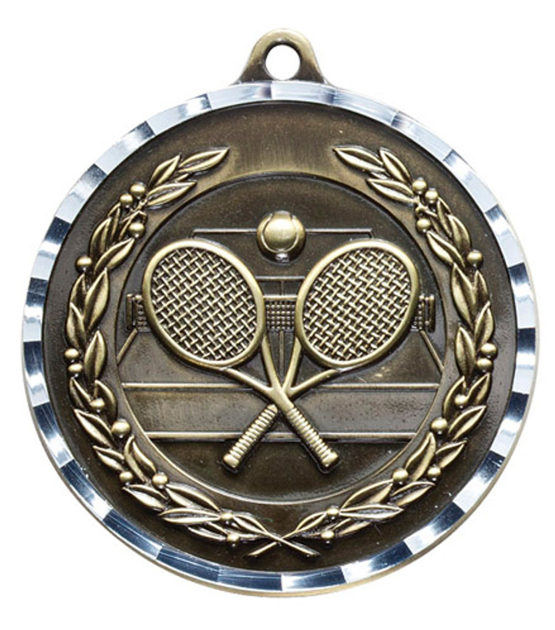 Tennis Diamond Cut Medal