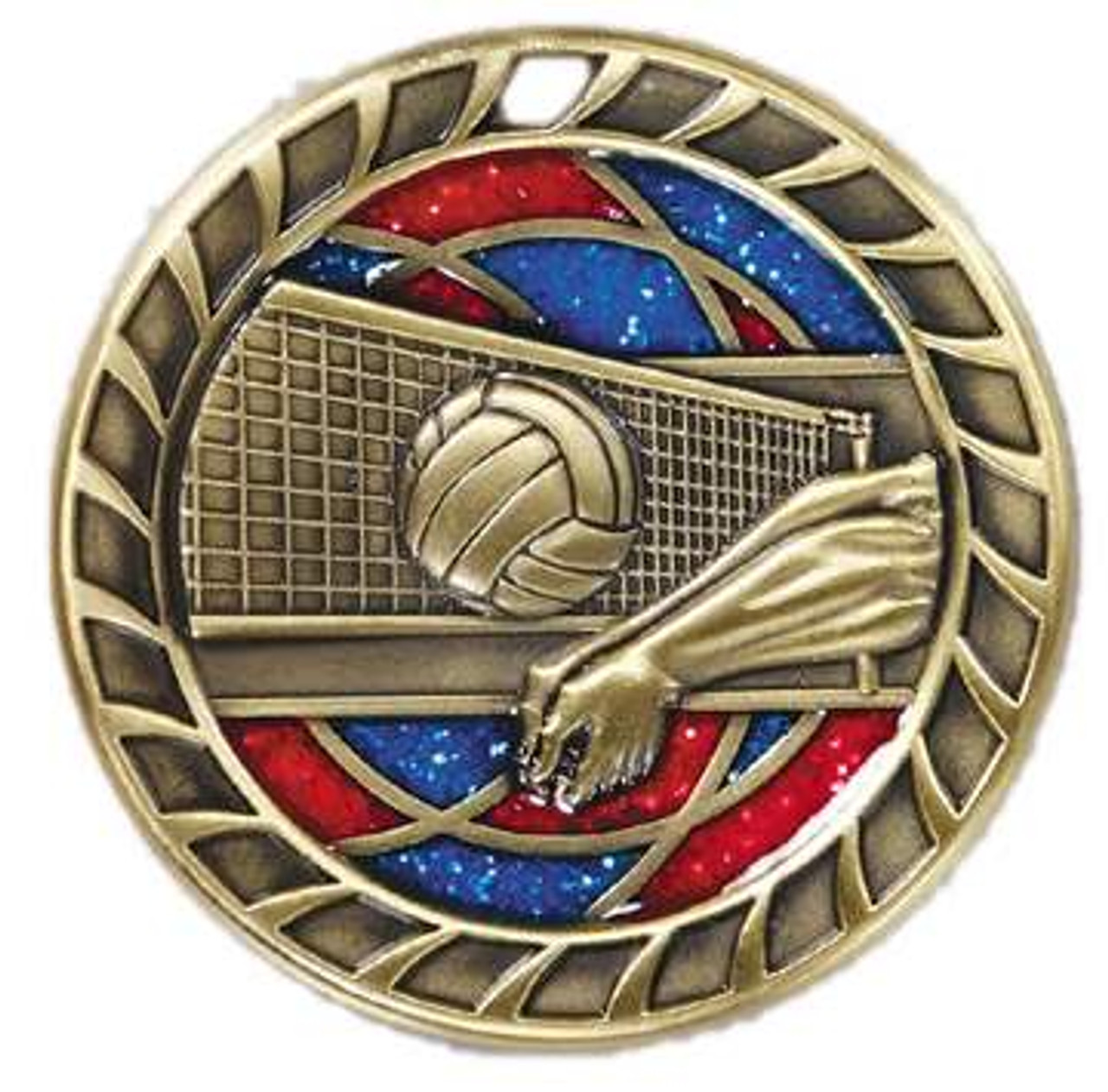 Glitter Volleyball Medal